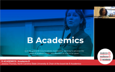 """Webinar – """"B Corp Academic Community works to unite academics studying and teaching about B Corporations"""""""