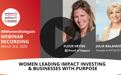 Webinar – Women leading impact investing & Businesses with purpose