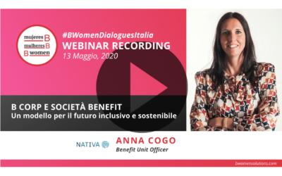 Webinar – B Corp e Società Benefit, un modello per il futuro inclusivo e sostenibile