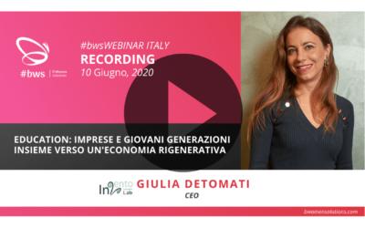 Recording #bwsWEBINAR ITALY | Education: imprese e giovani generazioni insieme verso un'economia rigenerativa