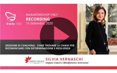 Recording #w4sWORKSHOP ITALIANO | Sessione di Coaching:  Come trovare le chiavi per ricominciare con determinazione e resilienza