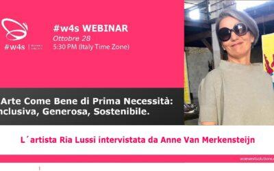 WEBINAR ITALIANO – L'Arte Come Bene di Prima Necessità:   Inclusiva, Generosa, Sostenibile (IT)