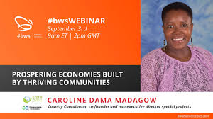 Caroline Dama – Prospering Economies Built by Thriving Communities – #w4s-Women4Solutions-Webinar