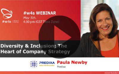Paula Newby – Diversity & Inclusion The Heart of Company Strategy – #w4s – Women4Solutions – Webinar
